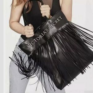 Victoria's Secret Fringe Tote Faux Leather Handbag
